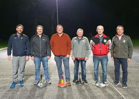Sieger der Vereinsmeisterschaft 2021 im Stockschießen auf Asphalt.